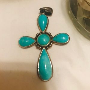 Jewelry - 925 NK Sterling Silver/Turquoise Necklace Pendant